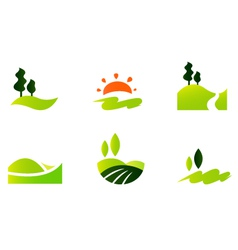Rolling hills icons vector image