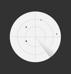 scanning radar with detected objects vector image
