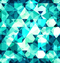 blue crystal seamless pattern vector image