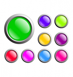 buttons web vector image vector image