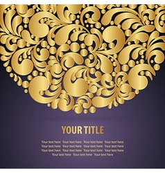 Circle golden background vector image vector image