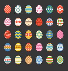 easter eggs set 1 vector image