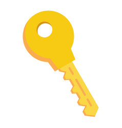 key flat icon security and password vector image