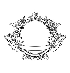 Retro frame with decorative floral elements vector image