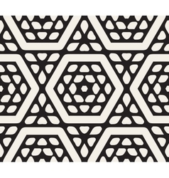 Seamless Black and White Rounded Floral vector image vector image