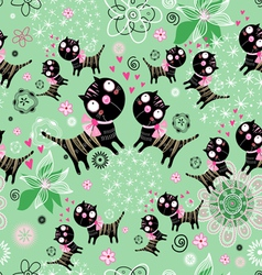 texture of the fun loving cats vector image