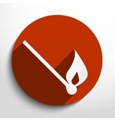 burning match web icon vector image