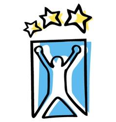 Champion sport symbol vector image