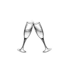 drink champagne sign christmas party icon with vector image
