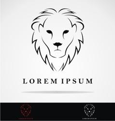 Lions Head Logo Design vector image vector image