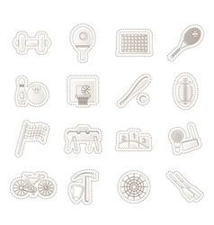 Simple Sports gear and tools icons vector image vector image