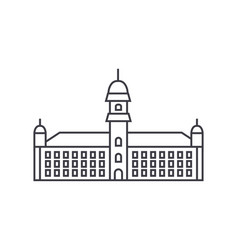 townhall line icon sign on vector image