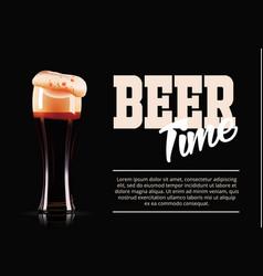 Elegant beer glass template banner photo vector