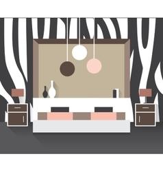 Modern bedroom interior vector image
