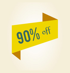 90 off discount clearance tag vector