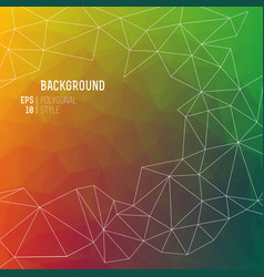 abstract multicolored polygon background vector image