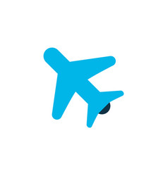 airplane in the sky icon colored symbol premium vector image