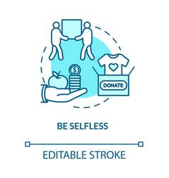 Be selfless concept icon clothes donation social vector