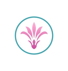 Beauty flower woman abstract logo vector