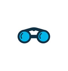 binoculars icon colored symbol premium quality vector image