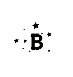 bitcoin coin with stars abstract falling bitcoin vector image