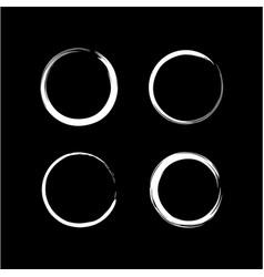 black and white zen circle set logo icon sign vector image