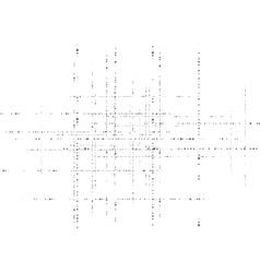 Black grunge circle particles tech vector