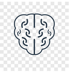 brain concept linear icon isolated on transparent vector image