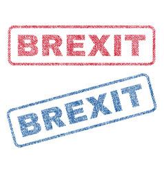 Brexit textile stamps vector