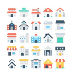 Building Colored Icons 2 vector image vector image