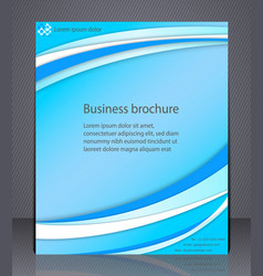 Business brochure blue abstract layout template vector