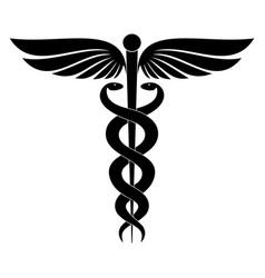 caduceus emblem vector image