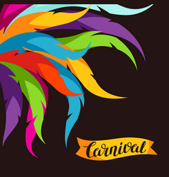 Carnival party background with colorful decorative vector