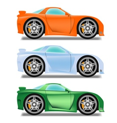 Cartoon racecar vector