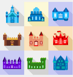 citadel icons set flat style vector image