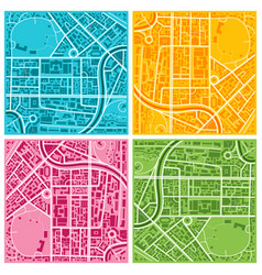 city map set vector image