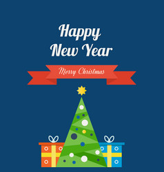 Coming new year of christmas gifts and mood vector