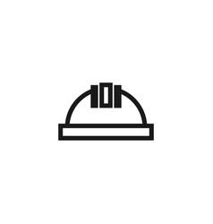 construction helmet icon graphic design template vector image