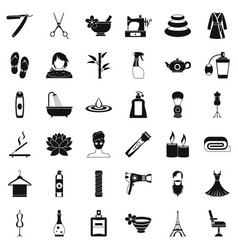 Cosmetic icons set simple style vector