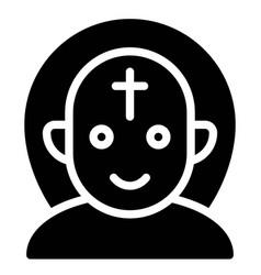 Demon priest avatar halloween costume icon vector