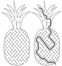 Easy pineapple maze vector