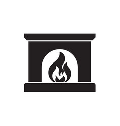 Fireplace icon silhouette design vector