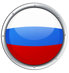 Flag of russia in round frame vector