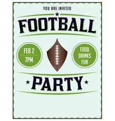 Football Party Flyer Poster vector image