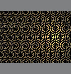 gold geometric jewelry grid on a black background vector image