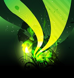 green wave vector image