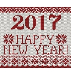Happy new year 2017 seamless pattern vector