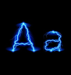 High voltage font vector image
