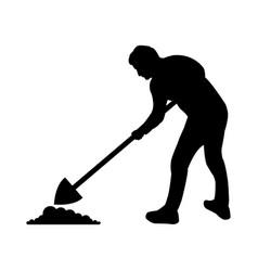 Icon man digging vector