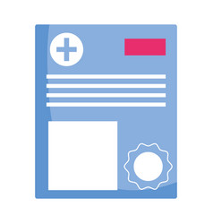 Isolated medical history design vector